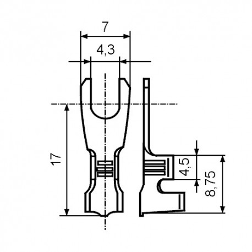 EMPV25 -- Papucica viljuskasta 0,5-1mm. M4