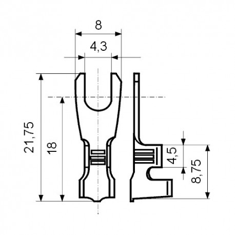 EMPV25-1 -- Papucica viljuskasta 0,5-1mm. M3