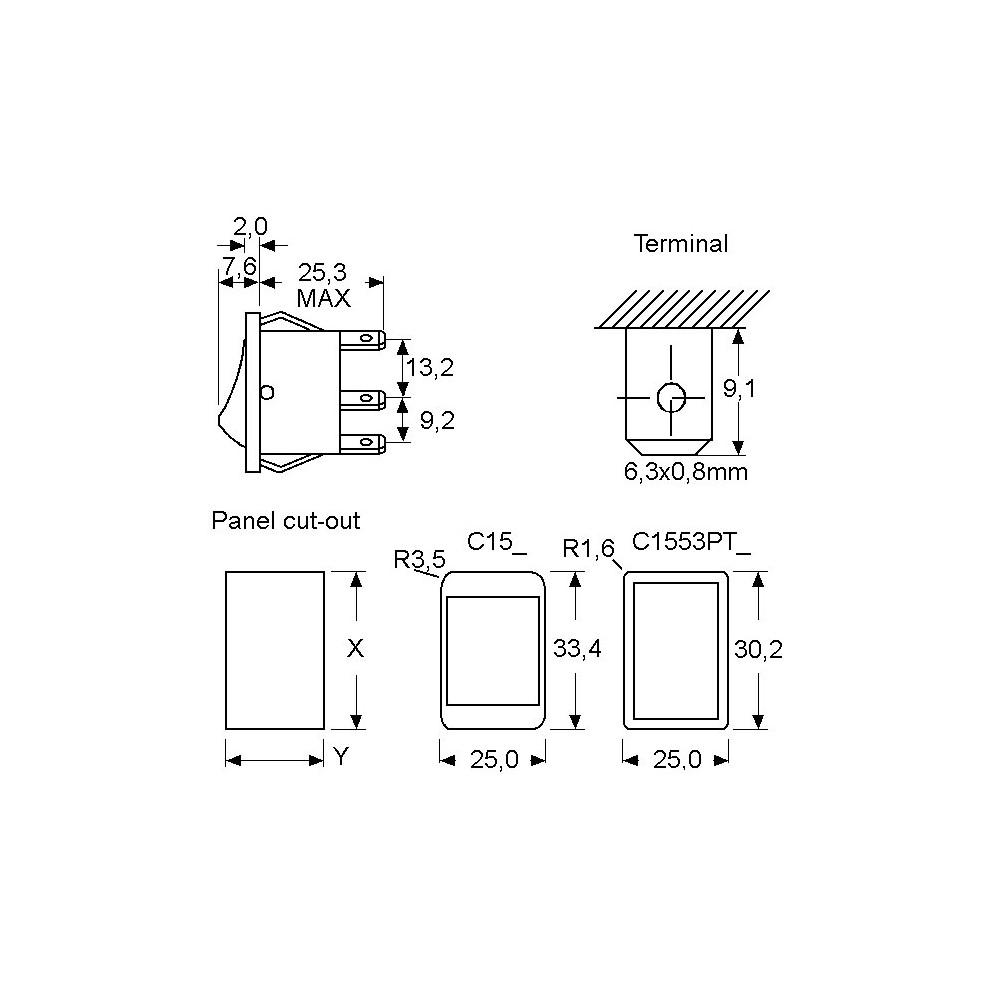 HLATO220SK641S :: Hladnjak TO220, eloksiran 31,8x22,3x6.4