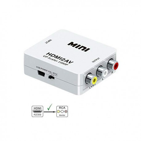 UTA HDMI AV :: Adapter HDMI na AV 1080P