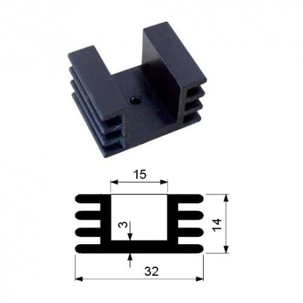 HLATO220B -- Hladnjak TO220 H27/25 mm