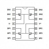 IC4007 SMD -- IC Dual Compl. Pair+Inverter
