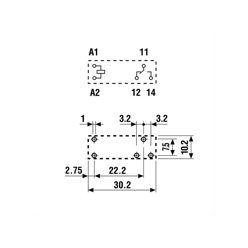 RELTRP6931-110VAC :: Rele TRP6931/10A ,110VDC, PR59