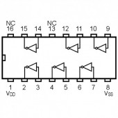 IC4049SMD -- IC Hex Inverting Buffer