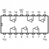 IC4050SMD -- IC Hex Non-Inverting Buffer