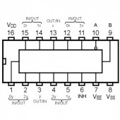 IC4052SMD -- IC Dual 4-Channel Analog Multi/ Demultiplexers