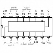 IC4053SMD -- IC Triple 2-Channel Analog Multi/ Demultiplexers