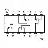 IC4066SMD -- IC Quad Bilateral Switch