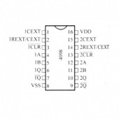 IC4098SMD -- IC Dual Monostable Multivibr