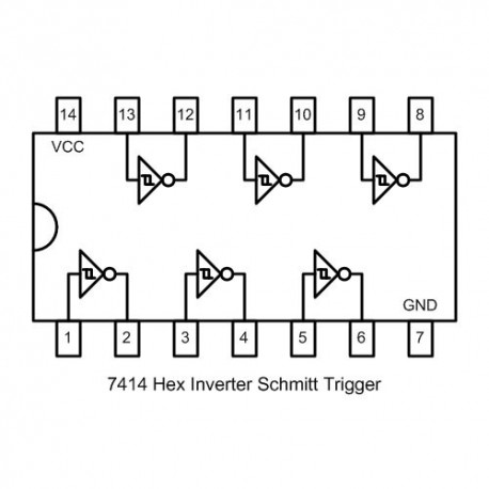 IC74HC14SMD -- IC Hex Inv Schmitt Trigger