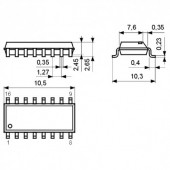 IC74HC251-SMD -- IC 8-line to 1-line multiplexer 3-state