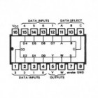 IC 8-line to 1-line multiplexer DIP16