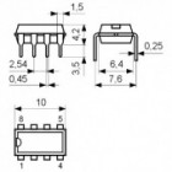 IC 2XOp-Amp 3-26V LP DIP8