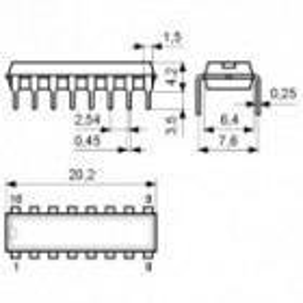 IC RS422/423 4X Receiver DIP16