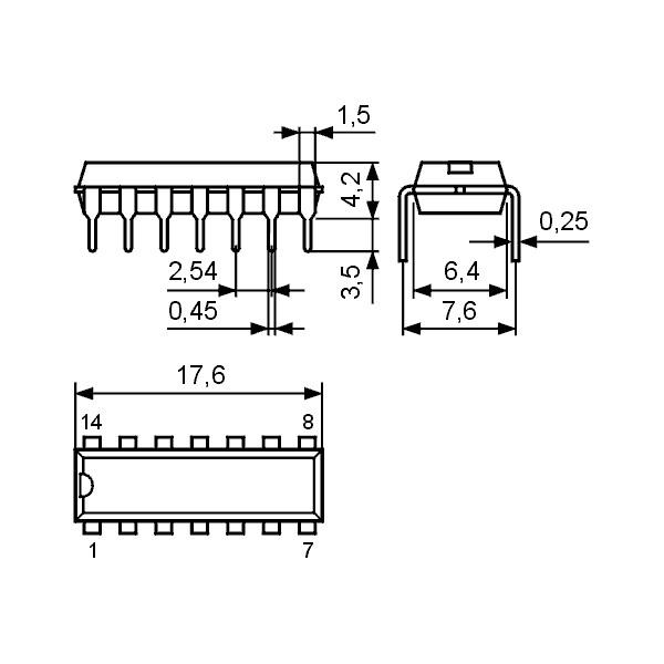 IC TV Vid.-ZF AGC(MOSFET-Tuner) DIP16