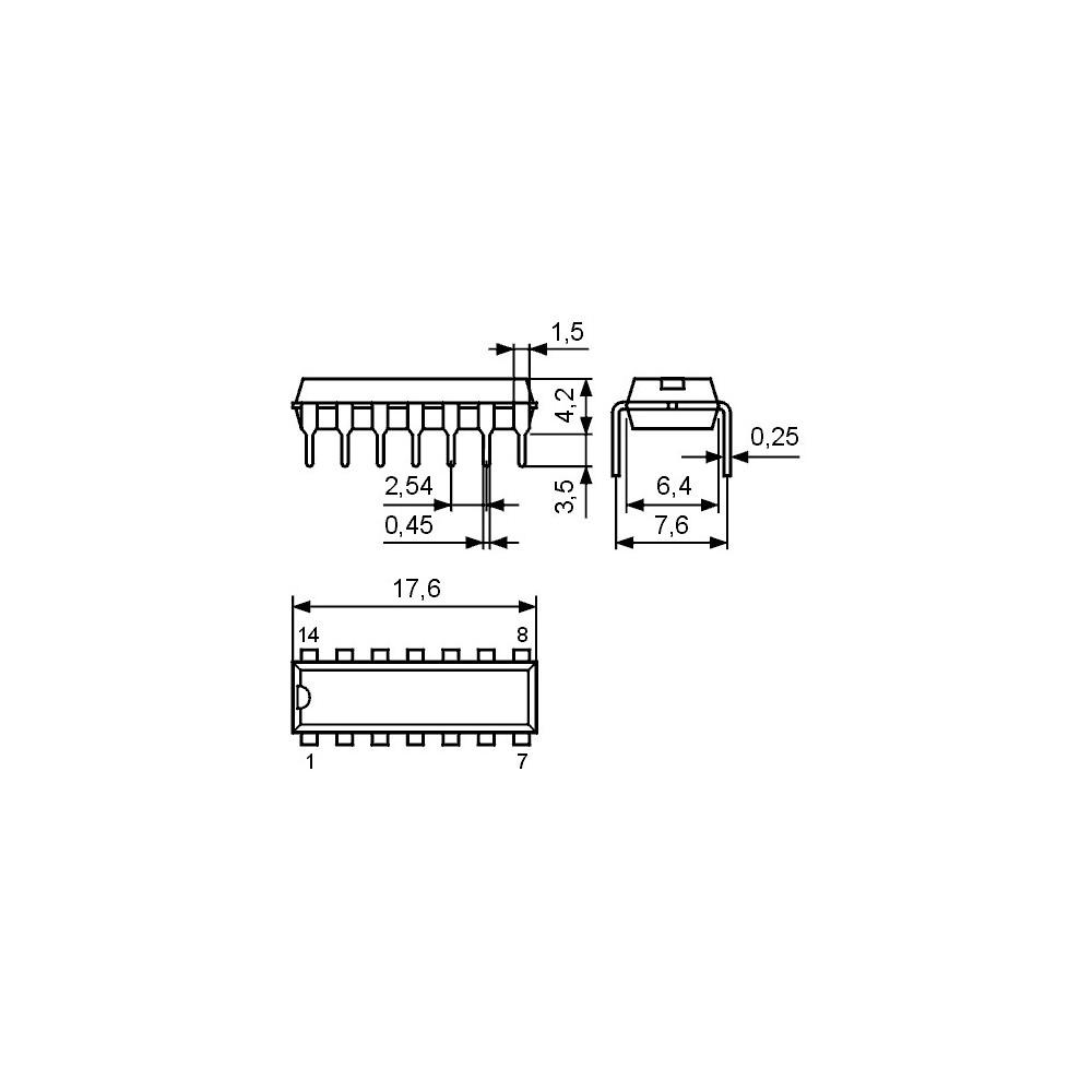 ICTA7609P -- IC TV HA/VA-Synch.+Kombin. DIP16
