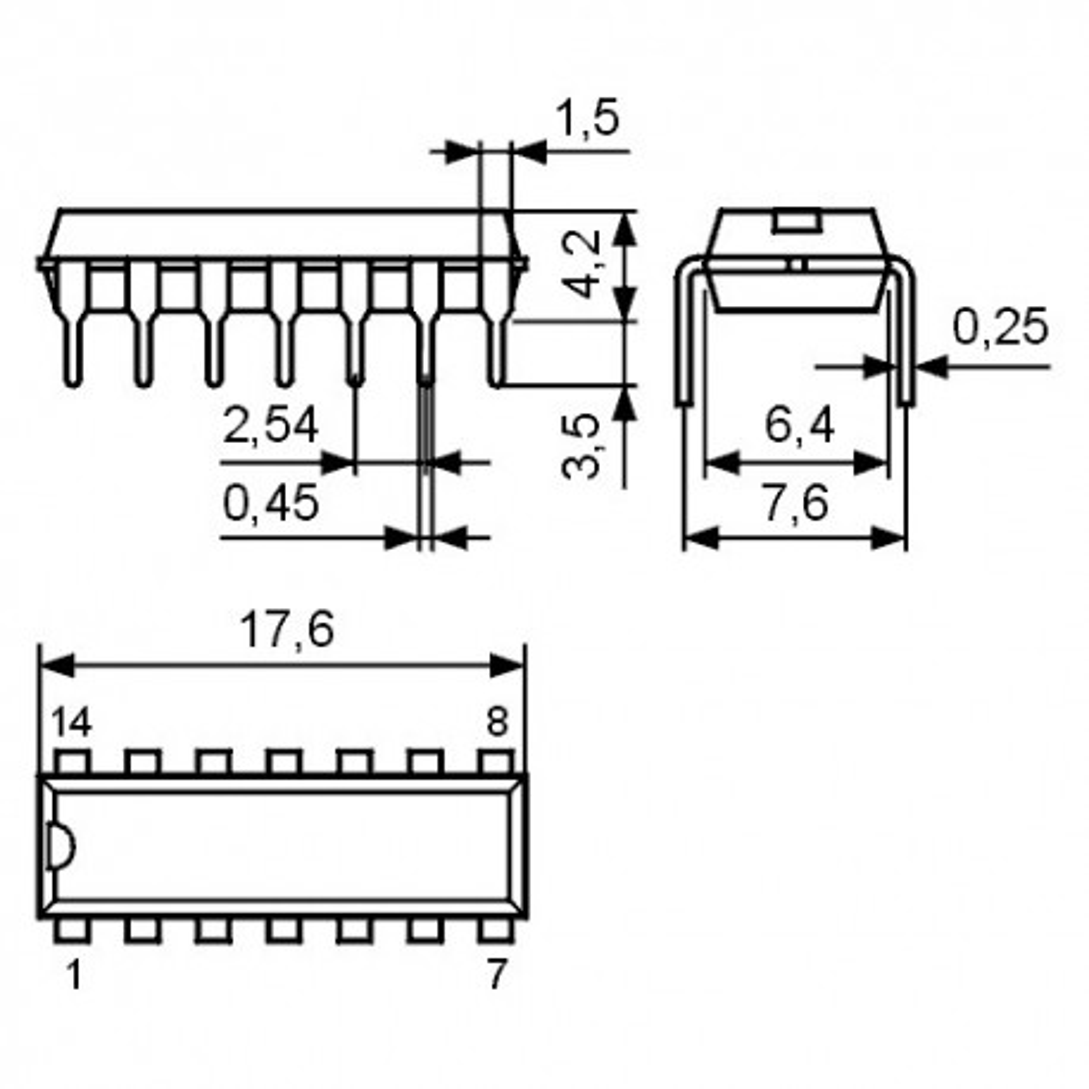 ICTA7658P -- IC Rec. 2xA/W-Vst. ALC Ucc 3..16V DIP14