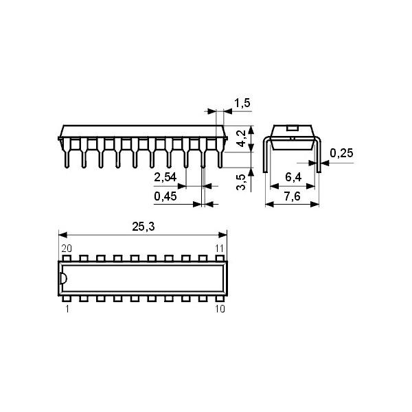 IC DC-Motor-Tr. bidirektional 1A DIP16