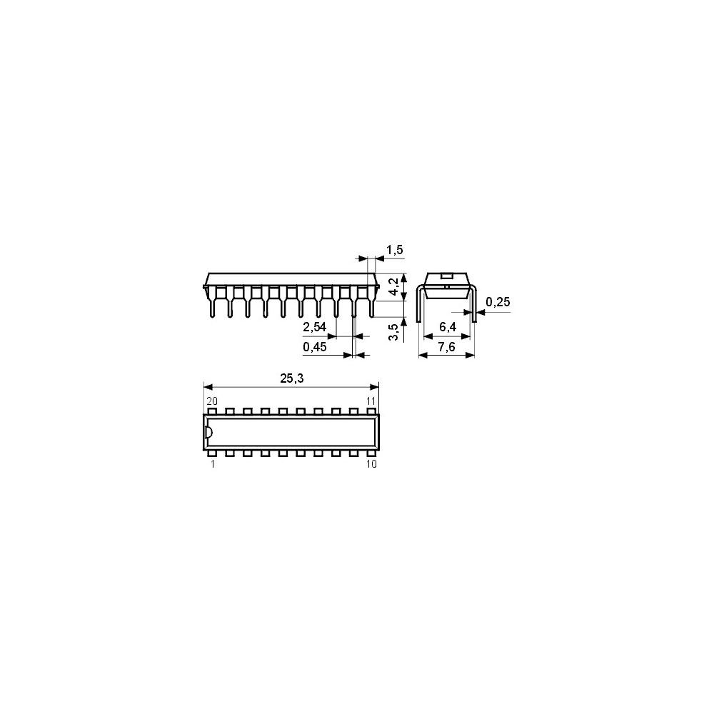 ICTA7736 -- IC DC-Motor-Tr. bidirektional 1A DIP16