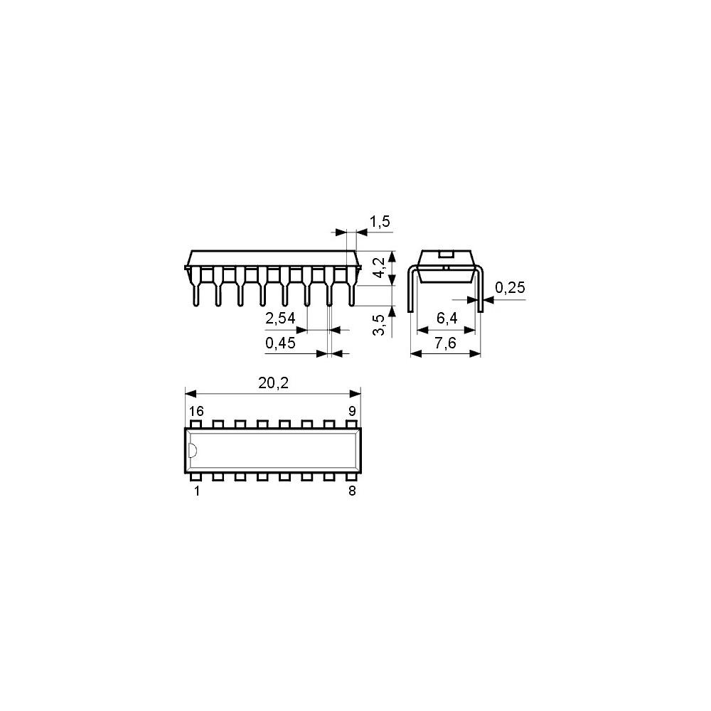 ICTA7739P -- IC Rec. 2xNF-V Ucc 1.6..5V DIP16