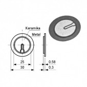 BUZ0 -- Piezo element 35mm 2.9KHz 30V
