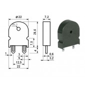BUZ8 -- Piezo element PC 2,0 kHz 80db 22mm