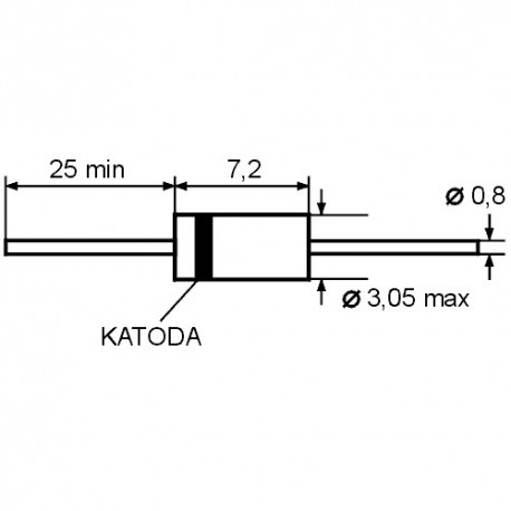 DIOBYX10 -- Dioda 800V 0.36A