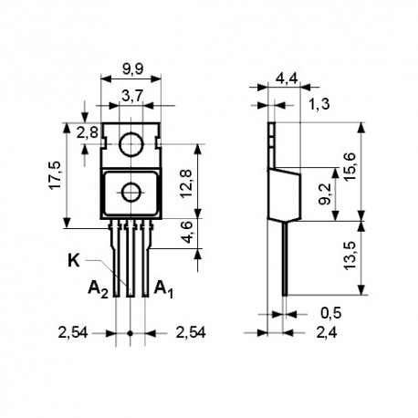 DIOMBR2045 -- Schottky 45V 20A(2x10) TO220AB