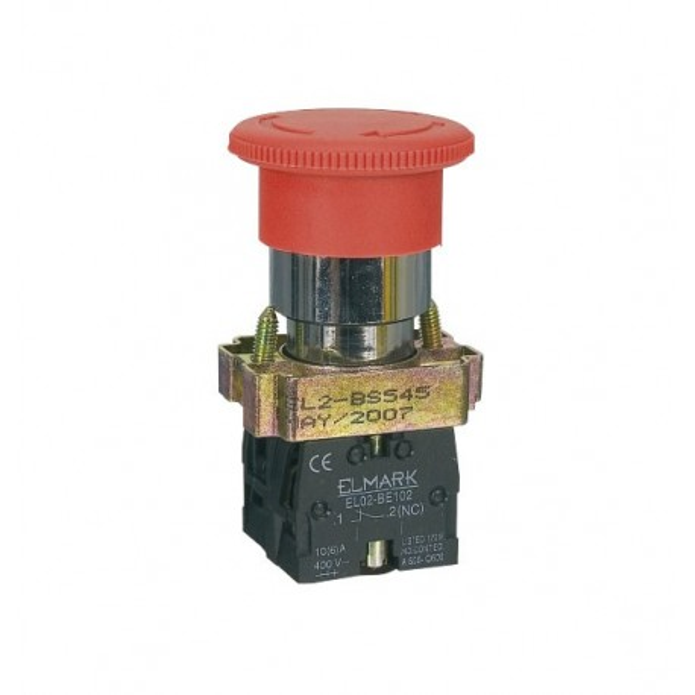 TAS22STOP -- Taster 22mm STOP 10A 220V