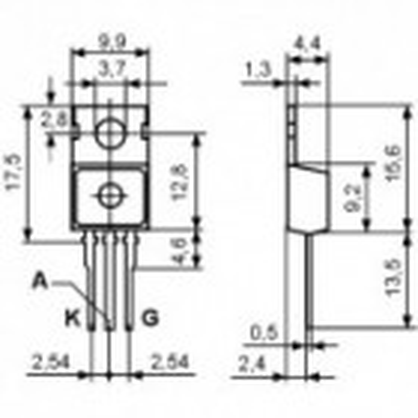 Tiristor 20A 400V TO220AB