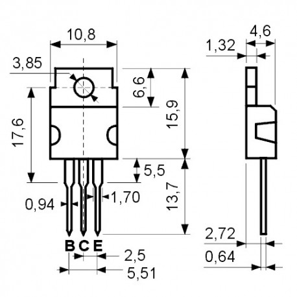 TRBD711 -- Tranz. N 100V 12A 75W TO220