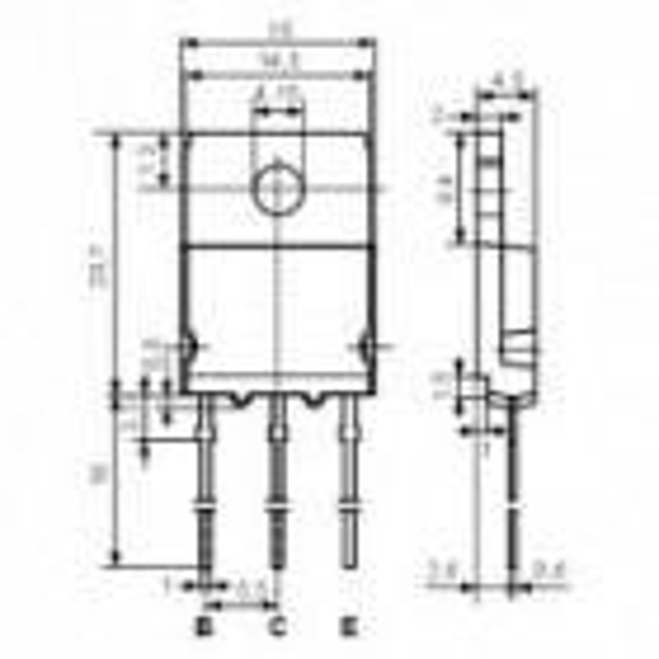 Tranz. P-Darl 100V 15A 150W TO218