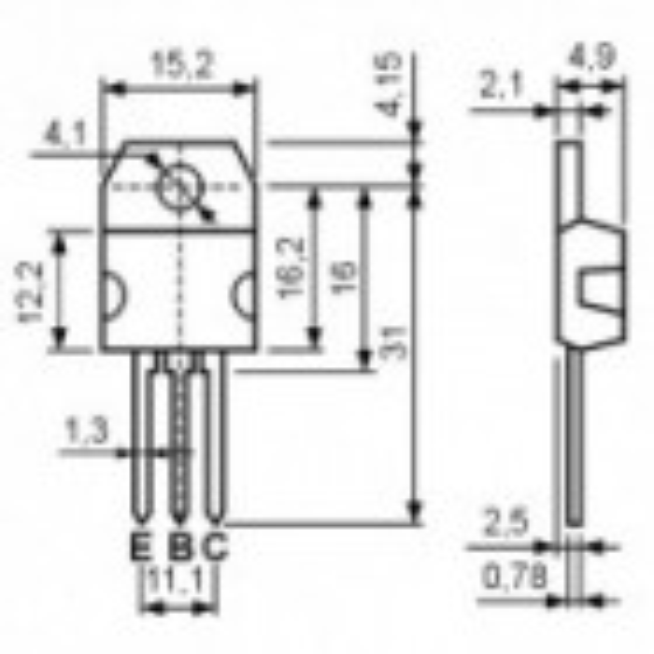 Tranz. MOS-N-FET 1000V 5.1A 125W
