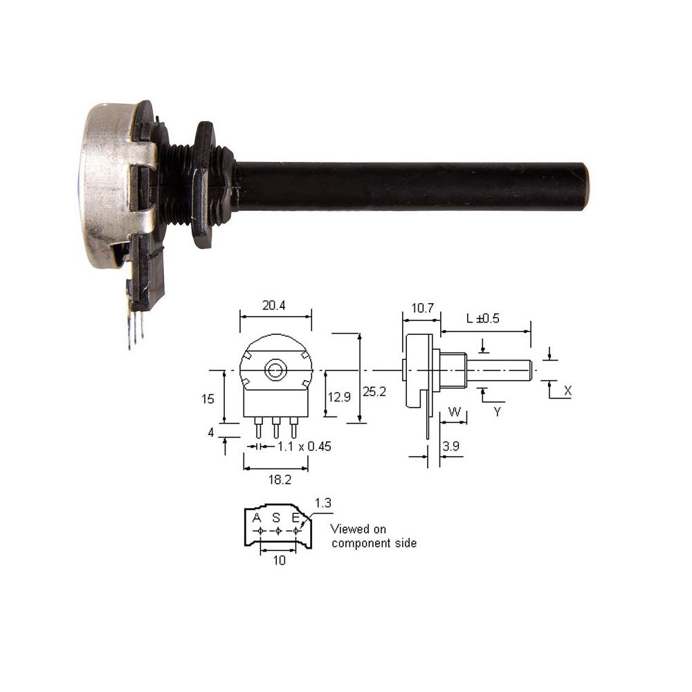 UTBAU35S -- Uticnica 3,5 stereo kabl.
