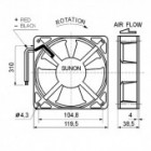 Ventilator 24VDC 120X38 EEC0382B1