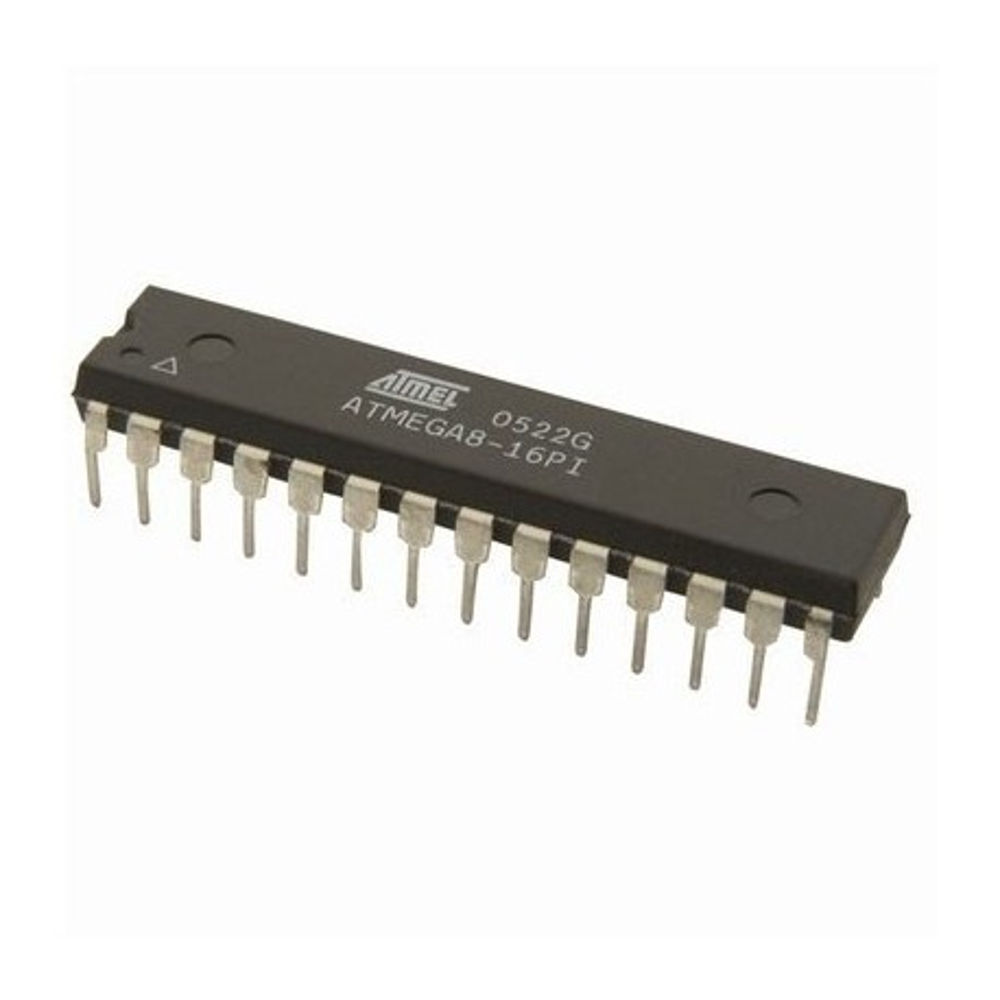 PCATMEGA8-16PI -- ISP-MC 5V 8K-Flash 16MHz DIP28