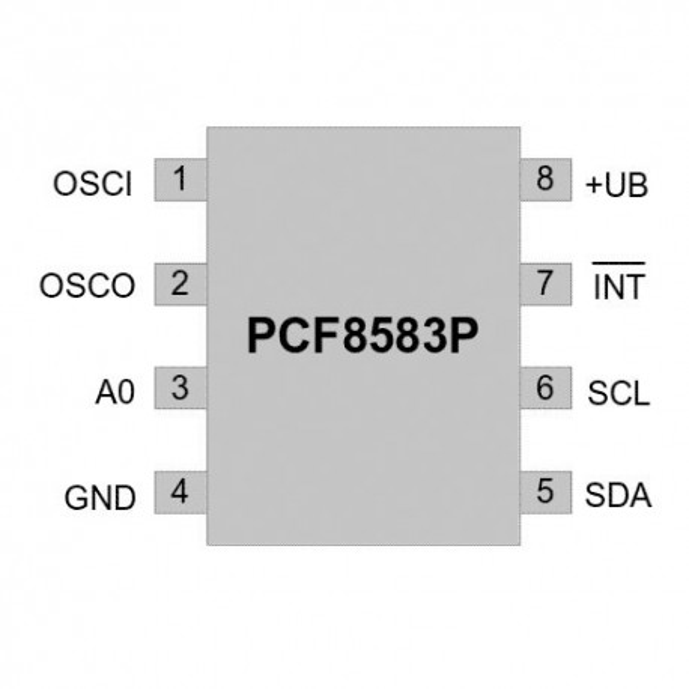 PCPCF8583 :: IC Clock/Calendar 240B-RAM DIP8