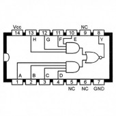 IC74LS55 :: 2-wide 4-input and-or-invert gate