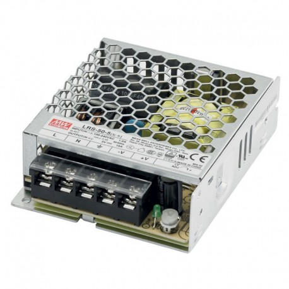 ISP10A5V-IK :: Ispravljac 220VAC/5V-10A ind.kuc. Mean Well