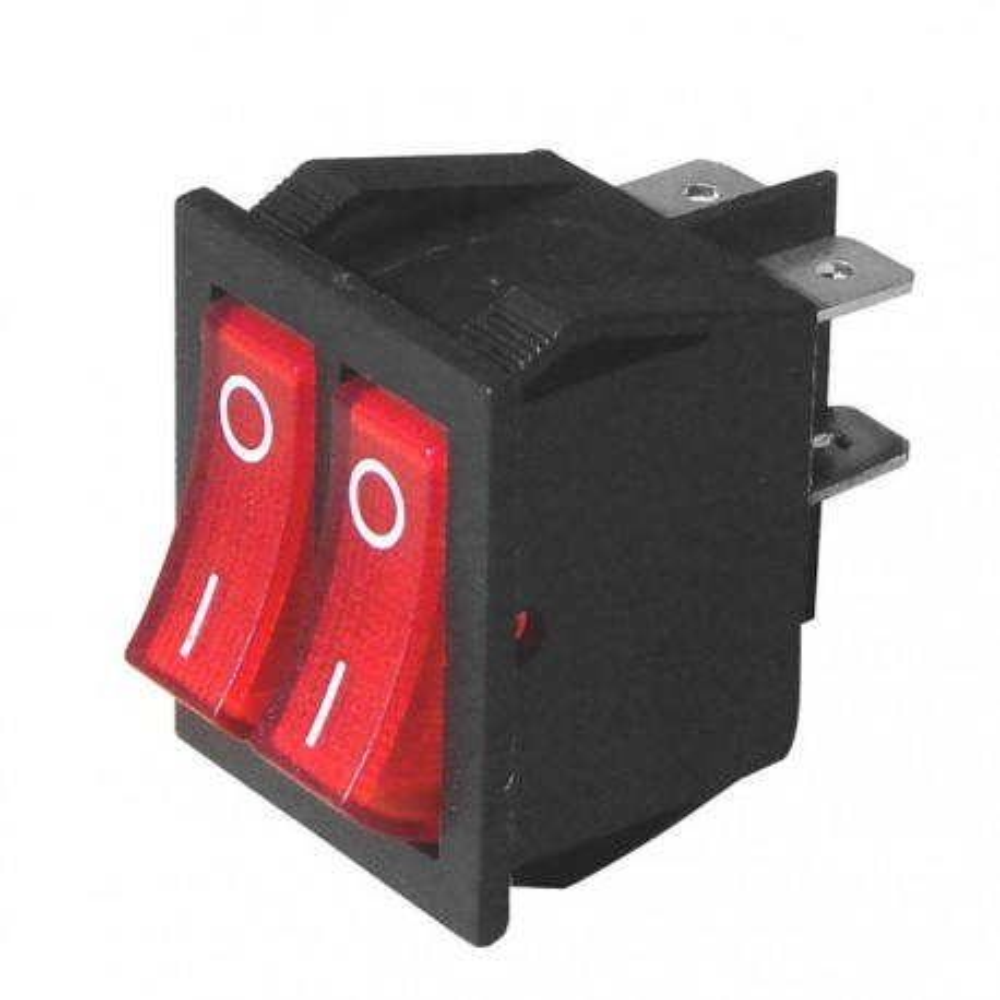 PREU2F :: Prek.uni. dupli 2x15A/250VAC (1-0) crveni