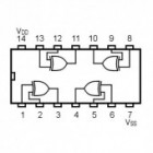 IC Quad Excl OR Gate