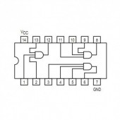 IC74HCT11 -- IC triple 3-input AND gate